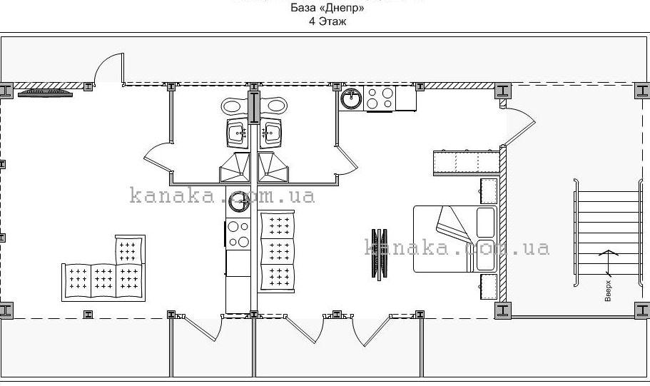 Схема расстановки мебели в